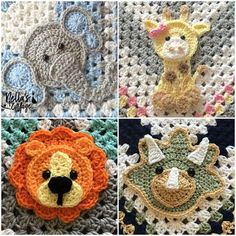Transcendent Crochet a Solid Granny Square Ideas. Inconceivable Crochet a Solid Granny Square Ideas. Motifs D'appliques, Crochet Motifs, Free Crochet, Crochet Patterns, Crochet Cow, Crochet Appliques, Elephant Applique, Crochet Elephant, Elephant Pattern