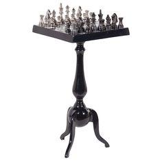 Chest Table, Black/Nickel | ACHICA