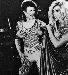 "vezzipuss.tumblr.com — David Bowie & Amanda Leare, ""1980 Floor Show"",..."