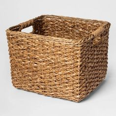 Threshold Aseana Small Milk Crate Natural 8 - Home Decoration Ideas Cubby Storage, Storage Baskets, Storage Cubes, Hallway Storage, Storage Trunk, Diy Storage, Storage Containers, Rectangular Baskets, Discount Home Decor
