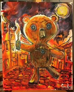 The Toys Revolt!! 12/24/2016 9:00pm   Really enjoyed painting... Art watercolor acrylic doodle art painting artistsoftumblr watercolor