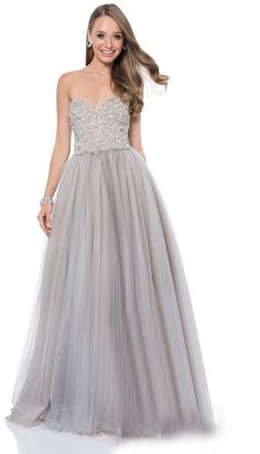 Terani Prom - 1611P1250A Embellished Sweetheart A-Line Gown