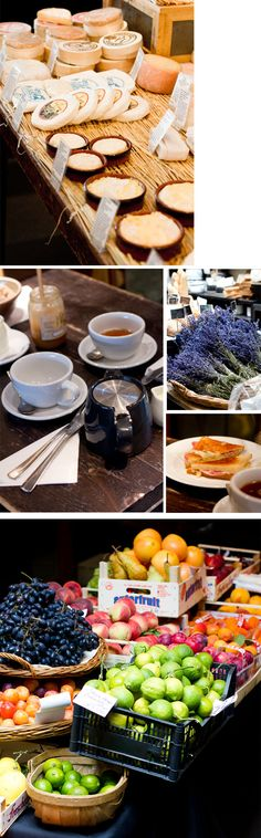 Breakfast, Marylebone London. La Fromagerie and The Fischer's.