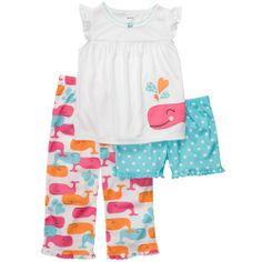 Set Pijama Tres Piezas Niña