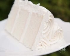 White velvet buttermilk cake.