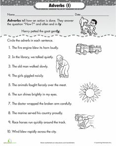 Worksheets: Find the Adverb