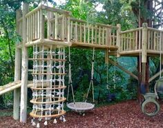 Backyard for kids, Kids backyard playground, Garden climbing frames, Playground, Play area backyard, Kids outdoor play - Image result for handmade playground -  #Backyardfor #kids
