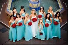 My Wedding Tiffany Blue with Red