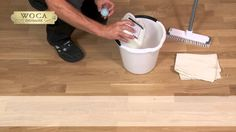How to apply WOCA Lacquer Care..... strengthens the lacquer, as it protects against wear and scratches.