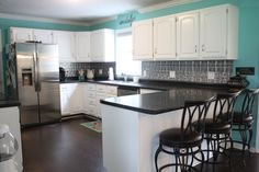 Before and After Kitchen Reveal! WOW! (More pics added!) www.re-fabbed.com via| Hometalk