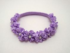 Sofia the First Lilac Crown \ Wreath Braided Headband with White Pearls, Flower…