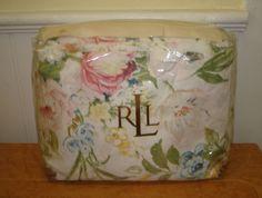 Ralph Lauren Home Lake floral KING duvet cover soft pastel pink cabbage roses