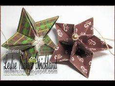 Bonus Tutorial | Origami Star Ornaments - YouTube
