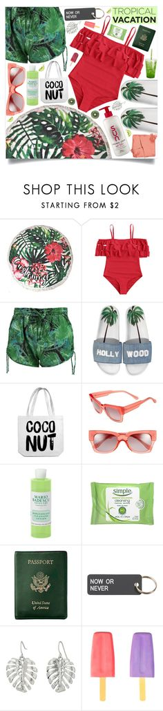 """""""Welcome to Paradise: Tropical Vacation"""" by marina-volaric ❤ liked on Polyvore featuring Boohoo, Joshua's, Marni, Mario Badescu Skin Care, Royce Leather, Various Projects, The Sak, Whiteley, Yoobi and Été Swim"""