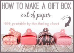 Freebie & Tutorial | Paper Gift Boxes for Mother's Day - Scrapbooking