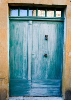 blue door in france