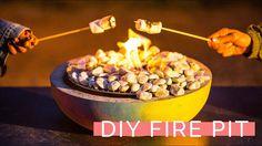DIY Concrete Fire Bowl for Enjoying S'mores