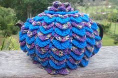 "My first listing on ETSY. TCb13, Tea Cosy, ""COTTAGE GARDEN COLOURS"", Chunky Retro, 3->4 cup, Handmade in Australia, Acrylic"
