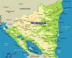 cool Map of Nicaragua