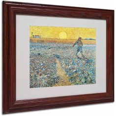 Trademark Fine Art Sower 1888 inch Canvas Art by Vincent van Gogh, Wood Frame, Size: 16 x 20, Multicolor