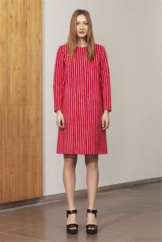Marimekko, Polly dress. Price 179 €. Winter 2015. Pattern: Piccolo by Vuokko Nurmesniemi. 97% cotton, 3% elastane + lining: 96% polyester, 4% elastane