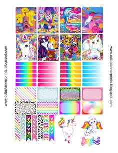 CDB Planner Prints: Lisa Frank