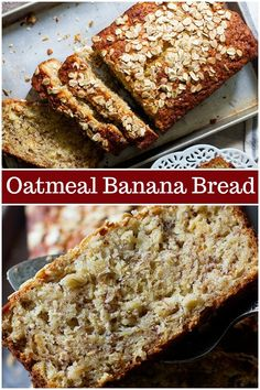 Oatmeal banana bread is perfect for breakfast. This easy banana bread is very simple and light, coming together in no time and everyone loves it. #bananabread #oatmealbananabread #quickbread #bestbananabread