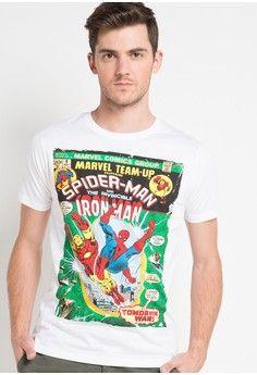 Pria > Pakaian > Atasan > Kaos > Marvel Comic Spiderman Marvel Team Up > H&R