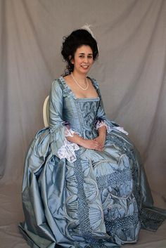 Holy historical smocking, Batman! ROBE A LA FRANCAISE by Rachel Kerby, via Flickr