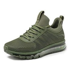 factory price 8012f 0e665 ONEMIX Air Baskets Homme Chaussures de Sports Course Sneakers Respirante Fitness  Gym Multisports Outdoor Running Vert
