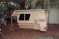 Chinook RV had a contract with GM in the to produce a fiberglass camper for the short wheelbase Blazer. The package was sold as the Chevy. Truck Bed Camping, Van Camping, Diy Camper, Truck Camper, Gmc Trucks, Cool Trucks, Micro Campers, Chinook Rv, Chevy Truck Models