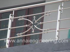 Manufacturer of Steel Handrail - Stainless Steel Handrails, Stainless Steel Balcony Design, Slight Curve SS Handrail and Stainless Steel Indoor and Outdoor Handrail offered by Annai Engineering Works, Tiruchirappalli, Tamil Nadu. Steel Stairs Design, Steel Grill Design, Staircase Railing Design, Modern Stair Railing, Steel Gate Design, Stair Design, Railings, Home Window Grill Design, Balcony Grill Design