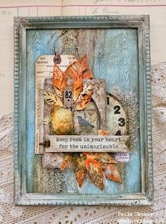 Autumn Display, Ranger Ink, Lucky Day, Distressed Painting, Fall Cards, Autumn Inspiration, Tim Holtz, Art Techniques, Mixed Media Art