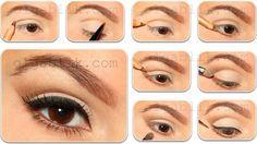 Step-By-Step Eye Makeup Tutorials: Light evening winged makeup #eyemakeup; #makeuptutorial