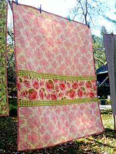 Cute quilt back using some of my fave fabrics
