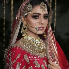 1st Day, Makeup Tips, Bridal Dresses, Septum Ring, Crown, Instagram, Brides, Jewelry, Pakistani