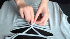 New sewing projects clothes upcycling big shirts 43 Ideas Zerschnittene Shirts, Diy Cut Shirts, Ripped Shirts, T Shirt Diy, Zumba Shirts, Band Shirts, Cut Up Tees, Cut Up T Shirt, How To Cut Tshirt