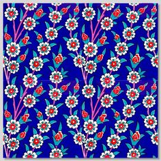 """TURKISH TILES: SPRING HARMONY  SKU: 43573060L  Dimensions: 8"""" x 8"""" $5 for 50+"""