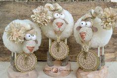 Три ОВЦЫ ))) - бежевый,овечка,овца,Овечки,овцы,овечка игрушка,овца игрушка