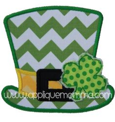 St. Patty's Day Hat Applique Design