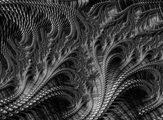 Black And White Fractals | Dark Loops - Black And White Fractal Abstract Digital Art