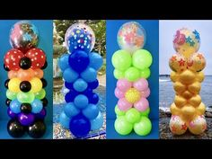 Dollar Store Balloon Columns! Triple-Stuffed - YouTube