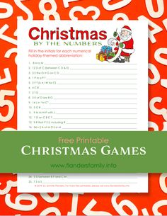 """You'll have to put on your thinking cap to crack the code to our newest holiday trivia quiz. We call it """"Christmas by the Numbers. Xmas Party Games, Holiday Games, Christmas Games, Holiday Parties, Free Christmas Printables, Free Printables, Obscure Facts, Social Share Buttons, Trivia Quiz"""