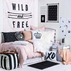 Teen Girl Bedrooms fresh ref Georgeous images to organize a classy teenage girl rooms ideas white Bedroom decor suggestions imagined on this imaginative date 20190316 . Dream Rooms, Dream Bedroom, Girls Bedroom, Bedroom Decor, Bedroom Ideas, Master Bedroom, Trendy Bedroom, Girls Daybed, Comfy Bedroom