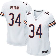 $79.99 Women's Nike Chicago Bears #34 Walter Payton Limited Away White Jersey