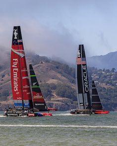 America pulls ahead of New Zealand - America's Cup 2013 San Francisco Bay