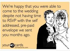 Anyone else have issues with RSVP'ing? Seriously people, how hard can it be?  #ecards #pahaly #wedding