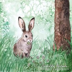 The Mountain hare watercolor art postcard - Annukka Palmén - Postcard Paper, Bunny Drawing, Hare, Rabbits, Watercolor Paintings, Art Pieces, How To Draw Hands, My Arts, Mountain