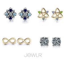 Earrings, Earrings & MORE EARRINGS! #DIY #Jewelry #Diamonds #Gold #Love