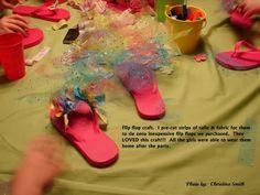 DIY Flip Flops BirthdaySlumber Party craft DIY Crafts